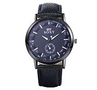 Xu™ Men's Fashion Casual PU Quartz Watch