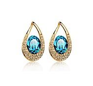 Luxury Drop Earrings for Women Clean Crystal Waterdrop Earrings Fashion Jewelry Accessories Silver Plated