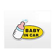 gracioso bebé en el coche coche coche etiqueta de la pared ventana de estilo de coche calcomanía (1pcs)