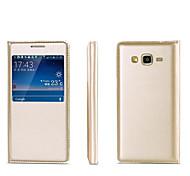 Original Flip Pu Leather Case View Window For Galaxy Core Prime/Grand Prime/J1 Ace/J1/J2/J3/J5/J7/E5/E7/On7/On5