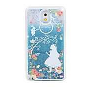 White Skirt Girl Painted Quicksand PC Phone Case For Samsung Galaxy Note3/Note4/Note5 + A Touch Screen Pen