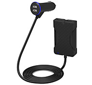 poweriq 36w интеллектуальный 4-портовый легковой автомобиль зарядное устройство черный 5v / 7.2а для iphone / Ipad / Samsung / и т.д.