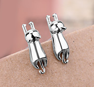 Han Edition Fashion 925 Silver Surface Animal Earrings Stud Earrings