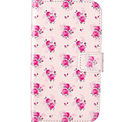 Rose Flower Pattern Embossed PU Leather Case for Galaxy Grand Neo