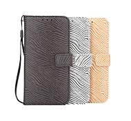 custodia protettiva motivo zebrato portafoglio per Samsung Galaxy s7