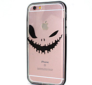 Devil's Smile Design LED Flicker Back Cover+Bumper Cover for IPhone 6/6S