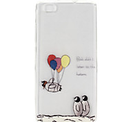 Balloon Penguin Pattern TPU Material Phone Case for Huawei P8 Lite/Huawei Ascend G7