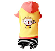 Dog Coat / Hoodie Red / Yellow / Orange Winter Fashion