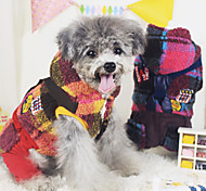 Dog Coat Red / Yellow Winter Fashion