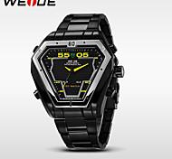 WEIDE® Men's Full Steel Sports Watch Quartz LED Analog Irregular Shape Wristwatch