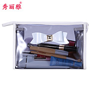 Makeup Storage Cosmetic Bag / Makeup Storage PVC Bowknot Ellipse 23*7*13CM Grey / Red / Purple / Rose