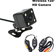 RenEPai® Wireless 120°HD 4LED Waterproof Night Vision Car Rear View Camera for 420 TV Lines NTSC / PAL 12V
