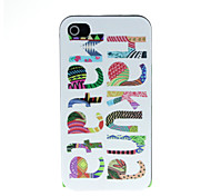 Color Letters Pattern Hard Case for iPhone 4/4S