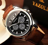 Luxury High Quality Black Brown Genuine Leather Quartz Business Dress Wrist Watch Wristwatches Men Male Cool Watch Unique Watch Fashion Watch