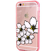 White Peach Design LED Flicker Back Cover+Bumper Cover for IPhone 6/6S