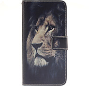 The lion Pattern PU Leather Full Body Case with Card Slot for Samsung Galaxy A9/A9000