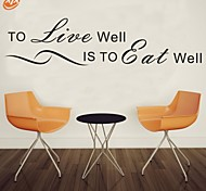 AYA™ DIY Wall Stickers Wall Decals,Eat Well Live Well English Words & Quotes PVC Wall Stickers