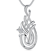 Geometric Pendant Necklace Personalized Jewelry Women's Silver Plated Necklace with Chain(Color:Silver)
