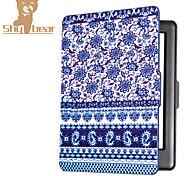 el caso elegante impresa protectora de cuero cubierta para hd Kobo glo (2015) porcelana azul y blanca caso del ereader del ebook