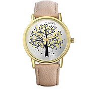 Authentic moment Leather watch Waterproof Watch men/women Watch quartz watch gold case tree dial 5 band Color WH0010