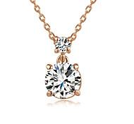 Pendentif de collier Cristal Quatre Prongs Imitation de diamant Pierres de naissance Simple Style Argent Or Rose Bijoux Pour