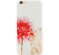 Nail rhyme flower diamond mobile phone shell painted reliefs for iPhone6/6s