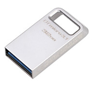 Original Kingston 32GB Digital  DTMicro USB 3.1/3.0 Type-A Metal Ultra-Compact Flash Drive (DTMC3/100M/S)