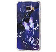 For Samsung Galaxy Case Shockproof / Pattern Case Back Cover Case Butterfly TPU Samsung A7(2016)