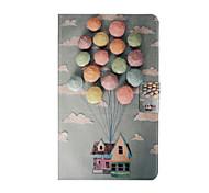 luchtballon patroon pu lederen beschermhoes tablet stand case case voor Samsung Galaxy Tab 8.0 e t375 t377