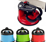 Knife Sharpener with Secure Suction Pad for Knife Scissor Tool(Random Color)