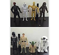Car Decoration Star Wars 8 Light Emitting Joints Cartoon Figure Model Toys 1 Set