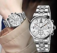 304 eau en acier inoxydable quartz japonais résistant à la montre de robe de SKMEI hommes