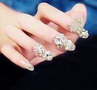 24pcs argento corona sposa punte festa chiodo di lusso intarsi gioiello