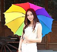 The Rainbow Umbrella Folding Umbrella Uv Protection Random Color