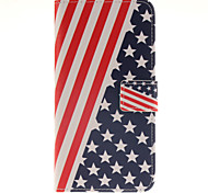 The American flag Design PU Leather Full Body Case with Card Slot for Samsung Galaxy A9/A9000