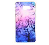 Purple Forest Pattern TPU Soft Case Phone Case for Samsung Galaxy A3/A5/A7/A3 10/A510/A710