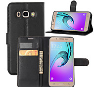 LOGROTATE® Leather Litchi Flip Stand Wallet Cover Case for Samsung Galaxy J5/J7 (2016) (Assorted Colors)
