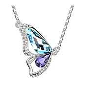 Femme Pendentif de collier Cristal Mode Violet Rouge Rose Vert Doré Bleu clair Bijoux Pour Occasion spéciale Anniversaire 1pc