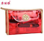 Makeup Storage Cosmetic Bag / Makeup Storage PVC Solid Quadrate 22.9x7x14.6cm Black / Blue / Purple / Orange