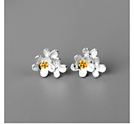 New Product Selling 925 Silver Triassic Wildflowers Stud Earrings