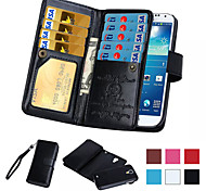 2 in 1 Magnetic 9 Card Sot Leather Wallet Flip Cover Slot Phone Cases for Samsung Galaxy S4 Case/S5/S6/S6 Edge/S6 Edge+