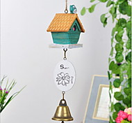 Village Breath Metal/Wood House Style Windbell  Country / Casual