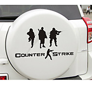 Funny CS military counter-strike Car Sticker Car Window Wall Decal Car Styling (1pcs)