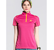 Summer Women's Outdoor Brand Tectop Camping Hiking Polyester Quick Dry Sportswear Short Sleeve T Shirts