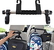 ZIQIAO Universal Auto Seat Back Headrest Luggage Bags Hanger Car Accessories Double Hook Holder