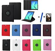 neue 360 drehende PU-Leder Standplatz Fall Abdeckung für Samsung Galaxy Tab 8.0 s2 t715 / s2 9.7 t815 Tablette + Stylus + Film