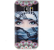 Masked Girl Pattern TPU Material Phone Case for Samsung Galaxy S2/S3/S3Mini/S4/S4Mini/S5/S5Mini/S6/S6edge/S7