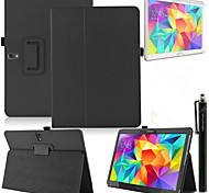 Fashion Top Quality Smart PU Leather Cover For Samsung Galaxy Tab S 10.5 T800 Tablet Case+Free Screen Protector+ Pen