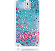 Hearts Painted Quicksand PC Phone Case For Samsung Galaxy Note3/Note4/Note5 + A Touch Screen Pen