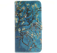 Apricot blossom tree Pattern PU Leather Full Body Case with Card Slot for Samsung Galaxy A9/A9000